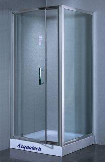 35 Corner Shower Enclosure with Aluminum Frame Hinged Door Base 5009