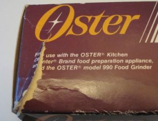 Oster Kitchen Center 990 food meat grinder Sausage Maker Kit