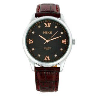 Fashion Jewelry Gift Women Lady Rose Leather Quartz Wrist Watch