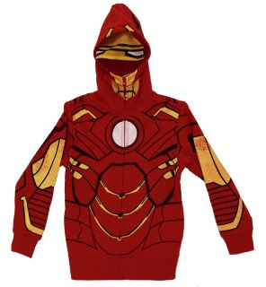 Iron Man Marvel Comics Costume Mask Youth Hoodie Hooded Sweatshirt