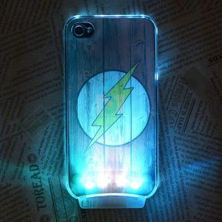 Cool LED Color Change Sense Flash Light Emitting Case Cover for iPhone