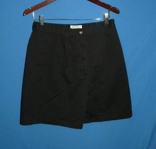 Ladies 12 Black Shorts Lightly Pleated Front Cotton Summer M 12