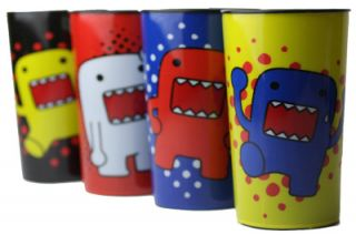 Animated Character Set 4 Colorful Party Plastic Drinking Glasses