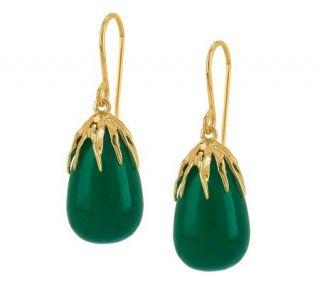 Adi Paz Green Chalcedony Drop Earrings, 14K Gold —