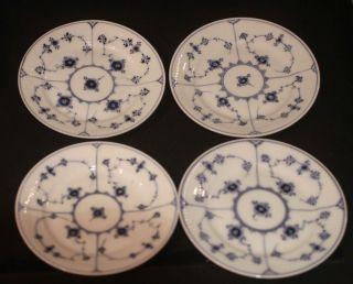 Royal Copenhagen Blue Fluted Lace Plates 6  300 Nice