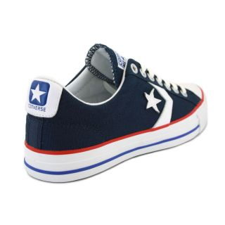 Converse Star Player EV Ox 125493C Unisex Laced Canvas Trainers Navy