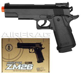 CYMA P826 ZM26 Metal Colt M1911 MKIV Pistol Spring Airsoft Gun G6 G13