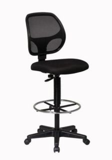 Mesh Fabric Seat Office Drafting Bar Counter Stools Chairs