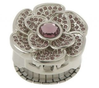 Gossip Crystal Accent Flower Ring Watch in Gift Box —