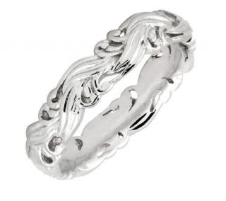 Simply Stacks Sterling Polished Scroll Ring —