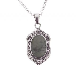 Connemara Marble Sterling Silver Mothers Love Pendant w/Chain
