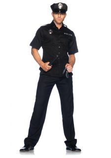 Mens Police Officer Cop Law Enforcement Adult Mens Halloween Costume