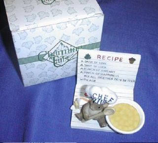 Charming Tails Recipe Holder 2004 L A EXC Mice Retired