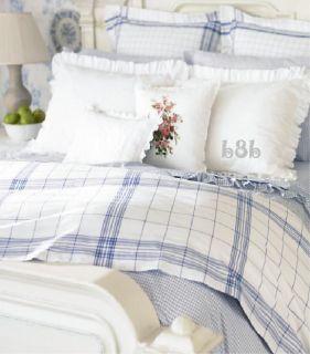 Ralph Lauren Cottage Hill Queen Duvet Cover Blue White