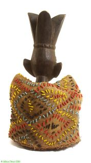 Yoruba Ibeji Twin Figure With Beaded Vest Africa sale wAS $290