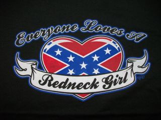 Country Tshirt Everyone Loves A Redneck Girl Dixie Rebel Rose Southern