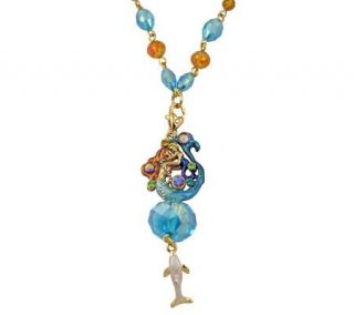 Kirks Folly Mermaid Mother and Child Sphere Pendant Necklace