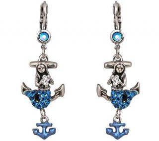 Kirks Folly Mermaid Magic Anchor Lever Back Earrings —