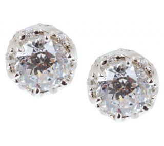 Tacori IV Diamonique Epiphany Bloom Cut Tiara Stud Earrings —
