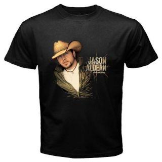 New Jason Aldean Relentless Country Music Singer Mens Black T Shirt