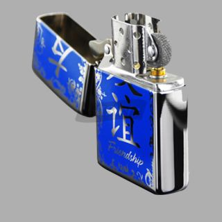 High Polished Chrome The Symbol of The Chinese Text Zippo Lighter