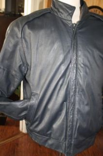 Cottrell Hayes Mens Vintage Leather Cafe Black Jacket 40 Motorcycle