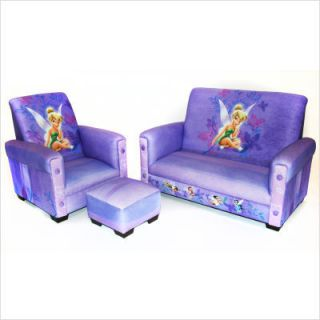 Disney Tinkerbell Fairies Toddler Couch Sofa Chair Set
