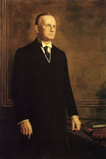 Calvin Coolidge American President Repro Paper Canvas
