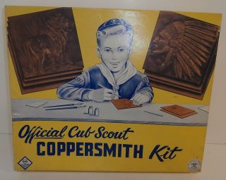 Vintage Official Cub Scout Coppersmith Kit in Original Box