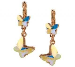Kirks Folly Butterfly Wishes Lever Back Earrings —
