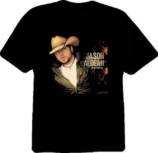 Jason Aldean Country Music Singer Black T Shirt