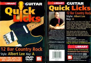 Lick Library 12 Bar Country Rock Guitar Albert Lee DVD