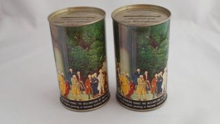 Pair of American Can Company Tin Banks