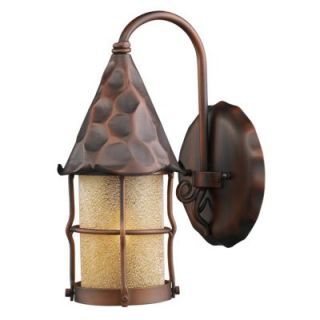New 1 Light Rustic Outdoor Wall Lamp Lighting Fixture Copper Bronze