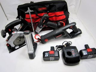 pre owned craftsman 19 2 volt 4 piece cordless tool set with 1 2 drill