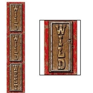Cowboy Country Western Wild Wild West 182cm Long Jointed Banner Party