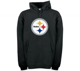 NFL Pittsburgh Steelers Logo Patch Hooded Fleece —