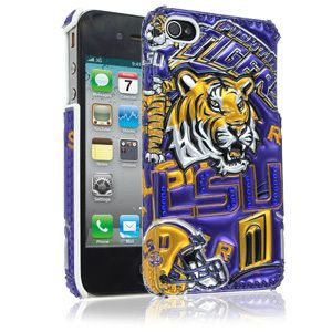 4s LSU LOUISIANA TIGERS Bling Rhinestone Jewel Cover Case BRAND NEW