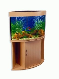New 33 Gallon Corner Aquarium and Tank Stand LLA3
