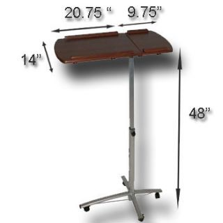 Mobile Rolling Laptop Computer Notebook Portable Table Cart Stand Desk