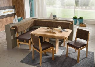 Modern beech wood dining set kitchen booth breakfast nook corner bench - Kitchen corner nook set ...