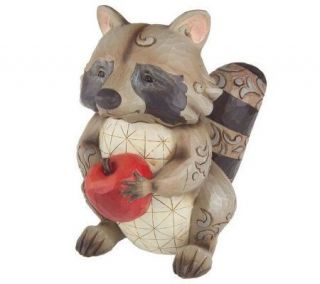 Jim Shore Heartwood Creek Raccoon Garden Statue —