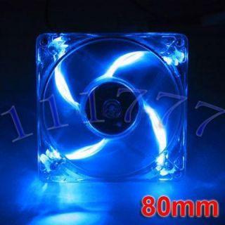 New Cooler Fan Blue Neon LED Fans for Computer PC Case