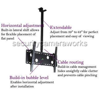 Flat Screen Plasma LCD Tilt Ceiling TV Mount Bracket 32 37 40 42 50 52