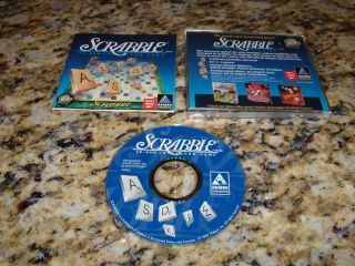 SCRABBLE CROSSWORD PUZZLE WINDOWS COMPUTER PROGRAM PC GAME CD ROM XP