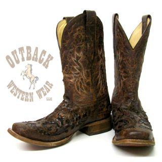 Corral Men's Brown Python Overlay Boots A2160