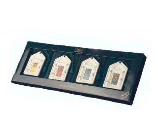 Belleek Set of 4 Dublin Doorways Ornaments —