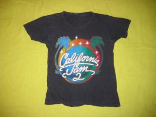 1978 California Jam 2 Vtg Concert T Shirt Aerosmith 70s