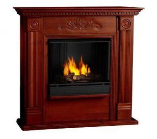 Stafford Corner Fireplace w/Side Storgage Fuel & Screen —