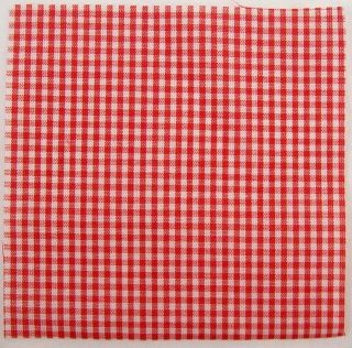 55 Red White Plaid Polka Dot Fabric Squares Quilt Blocks 4x4